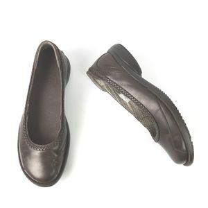 MERRRL Tetra Spite Espresso Brown Leather Flats 10